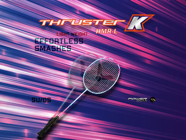 Thruster K HMR L – Effortless Smashes with a Lightweight Racket